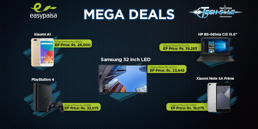 Easypaisa Mega Deals for PAkistan Day 2018